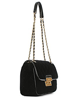 Michael Kors Black Velvet Shoulder Bag