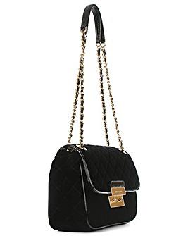 Michael Kors Black Velvet Shoulder Bag