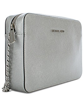Michael Kors Silver Cross-Body Bag