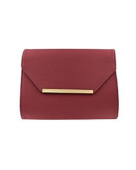 Leather Effect Clutch Bag