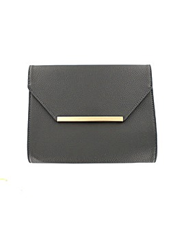 Leather Effect Clutch Bag