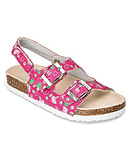 TKD Girls Flower Footbed Sandals