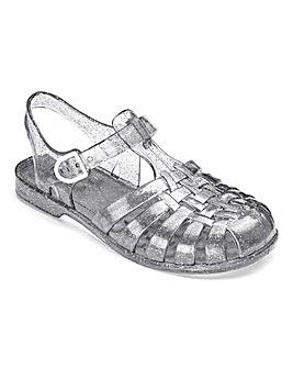 TKD Girls Sparkle Jelly Sandals