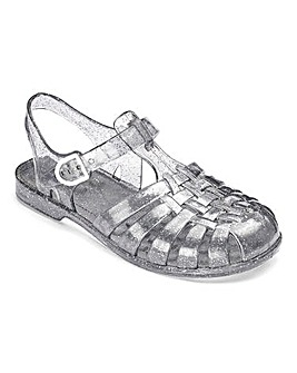 TKD Girls Sparkle Jelly Sandals