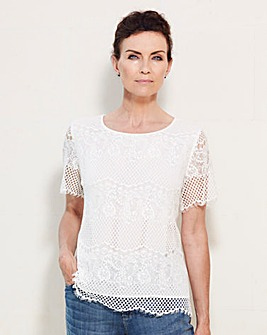 Scallop Lace Shell Top