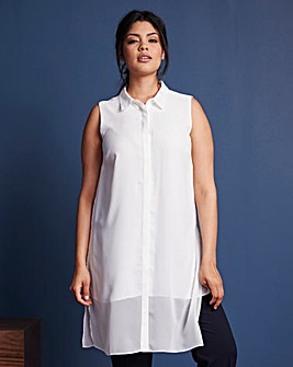 Longline Sleeveless Shirt