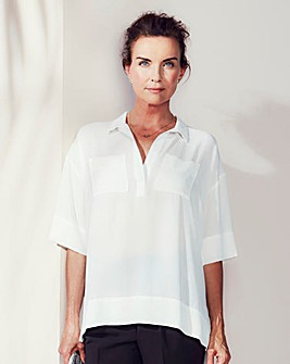 Dipped Side Utility Blouse