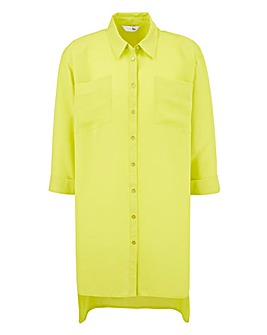 Lime Longline Blouse