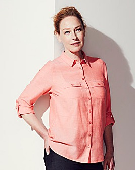 Orange Chambray Shirt