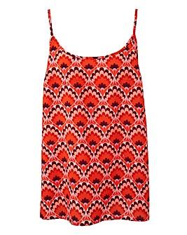 Red Print Camisole Vest