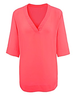 V-Neck Split Side Top