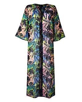 Palm Print Longline Kimono