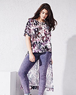 Purple Print Extreme Back Shell Top