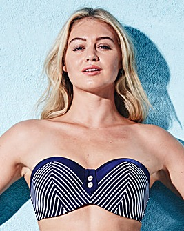 Panache Swim Britt Stripe Bandeau Top