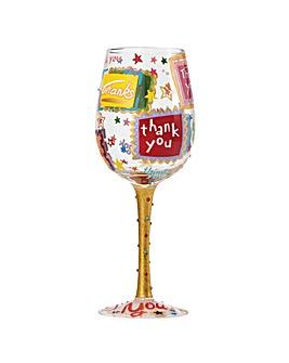Lolita Thank You Thank You Wine Glass