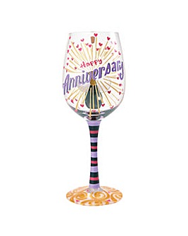 Lolita Happy Anniversary Wine Glass