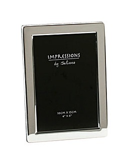 "Silverplated Photo Frame 4""x6"""