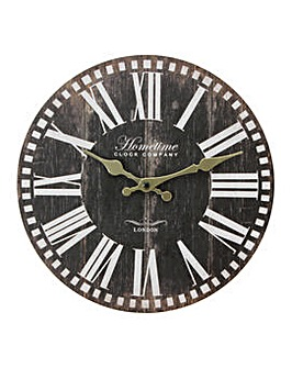 Hometime Rustic Wall Clock 30cm
