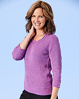 Square Neck Boucle Jumper