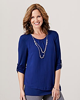 Layered Blouse with Necklace