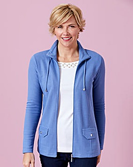 Jersey Jacket with Zip Fastening