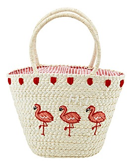 Joe Browns Flamingo Basket Bag