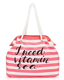 Glamorous Slogan Beach Bag