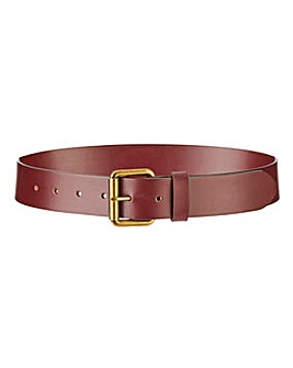 Burgundy Leather Jeans Belt