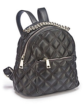 Small Quilted Backpack with Chain