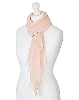 Pink Scarf With Rose Gold Spot