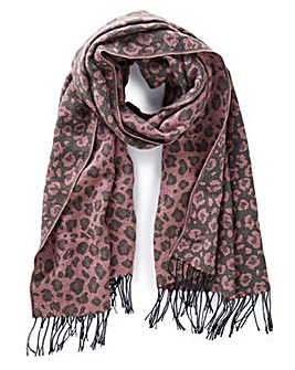Reversible Jacquard Animal Scarf