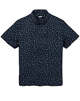 Jacamo Geo S/S Printed Shirt Long