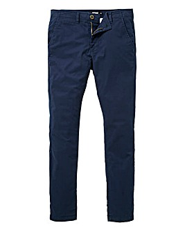 Jacamo Navy Stretch Skinny Chino 33in