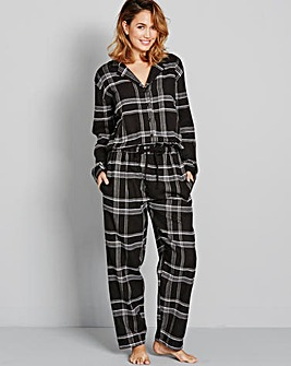 Pretty Secrets Flannel Check Onesie