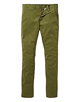 Jacamo Khaki Stretch Skinny Chino 31in