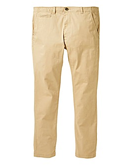 Jacamo Sand Stretch Skinny Chino 33in