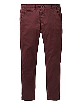 Jacamo Wine Stretch Skinny Chino 31in