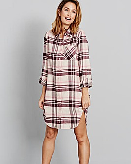 Pretty Secrets Flannel Check Nightshirt