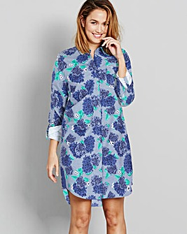 Pretty Secrets Floral Flannel Nightshirt