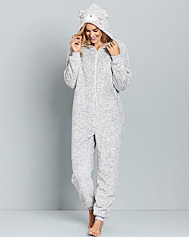 Pretty Secrets Fluffy Polar Bear Onesie