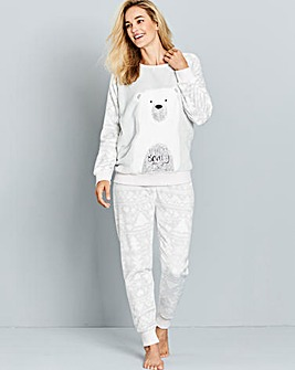 Pretty Secrets Fleece Polar Bear Pyjamas