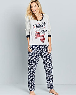 Pretty Secrets Snow Pyjama Set