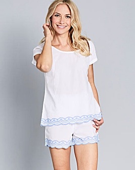 Pretty Secrets Broderie Anglaise Shortie