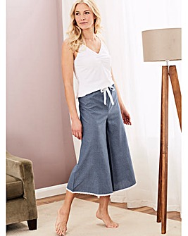 Pretty Secrets Luxury Cotton Culotte Set