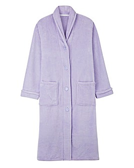 Pretty Secrets Button Fleece Gown 42""