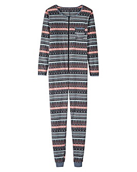 Pretty Secrets Fleece Zip Front Onesie