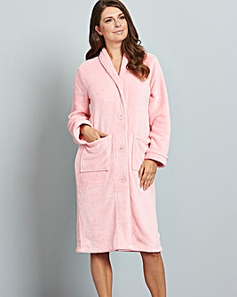 Pretty Secrets Button Fleece Gown 42