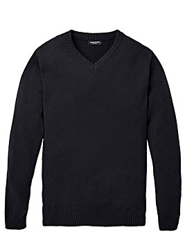 Capsule Black V- Neck Cotton Jumper R