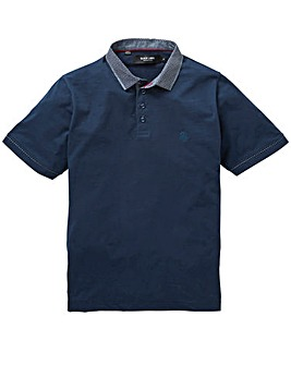 Black Label Ditsy Trim Polo Long