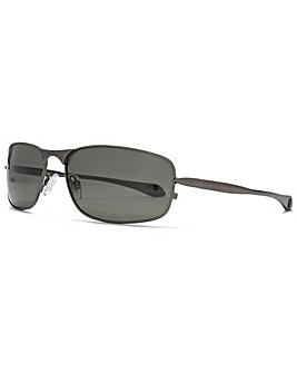 Freedom Polarised Metal Wrap Sunglasses